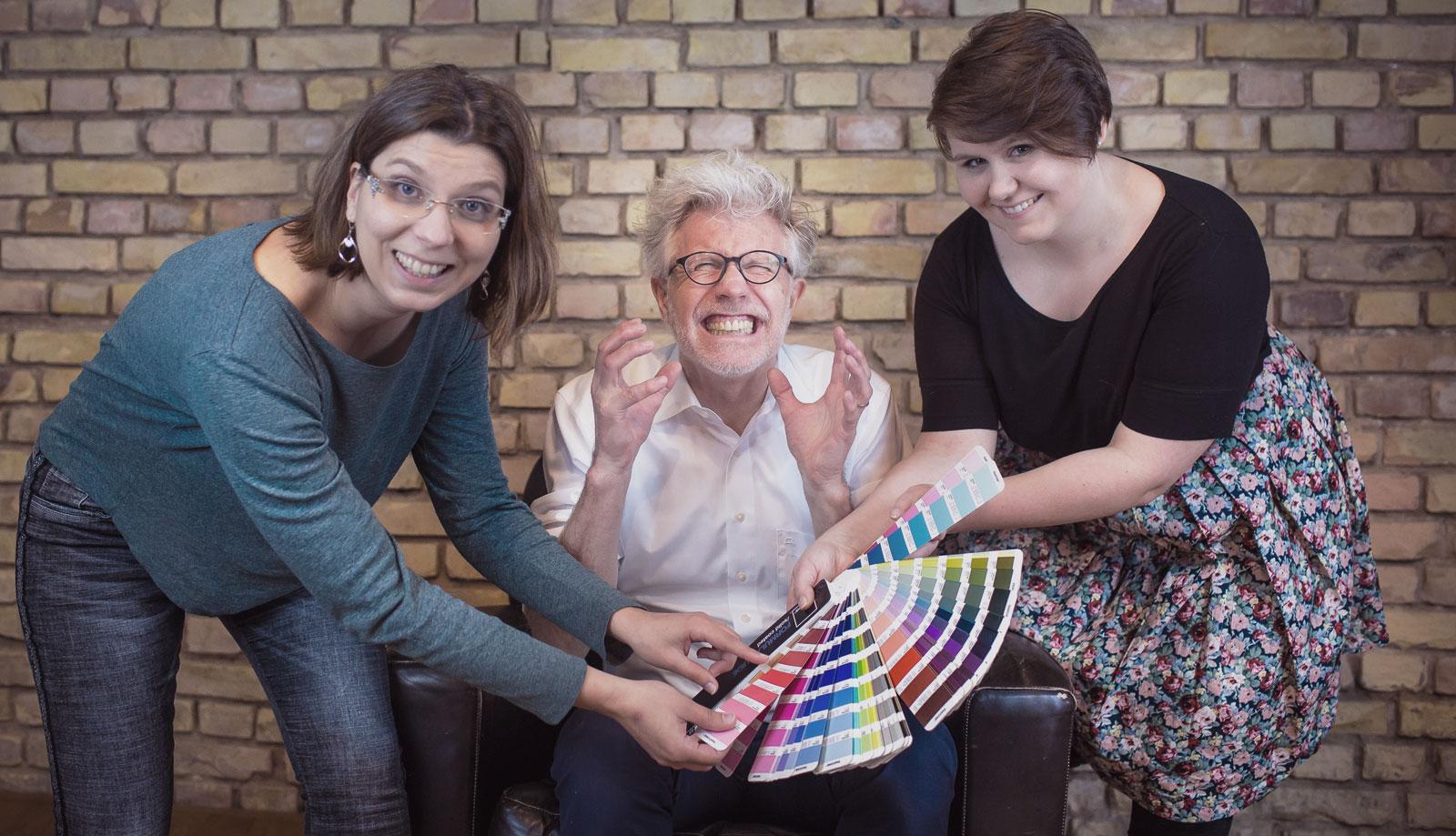 Prozess der Farben Findung für ein Projekt